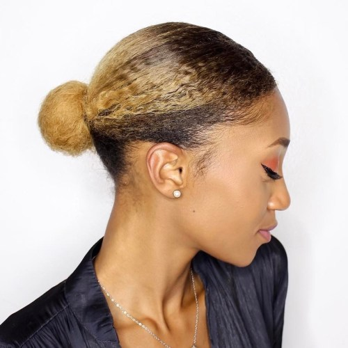 Small Bun For Natural Hair