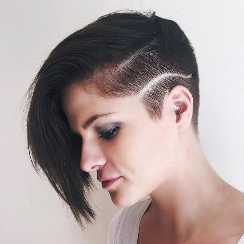 Asymmetrical Pixie With A Shaved Side