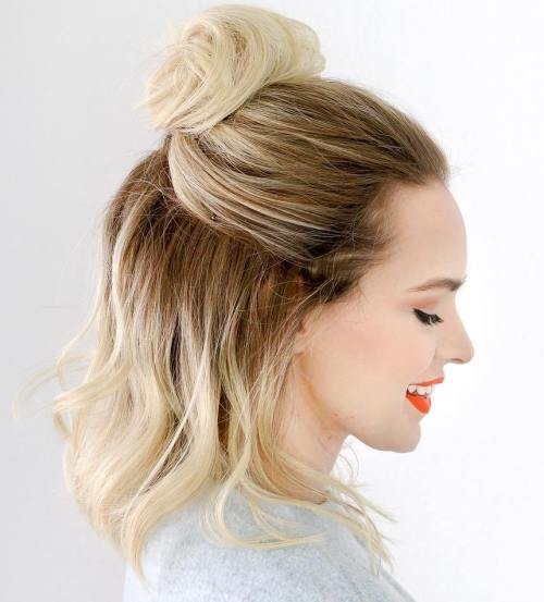 Half Up Top Knot For Lob