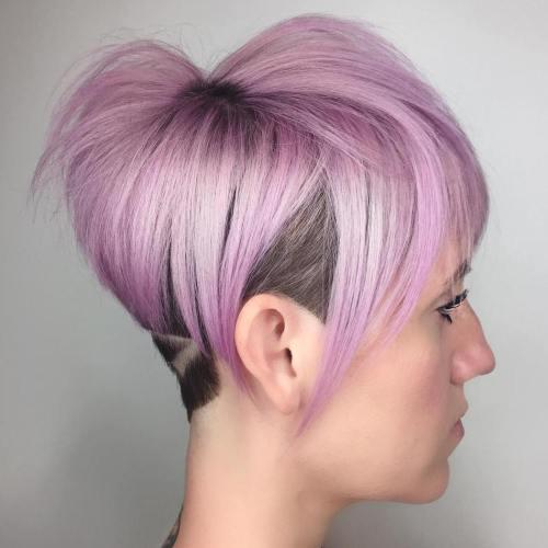 Lavender Pixie Bob Undercut