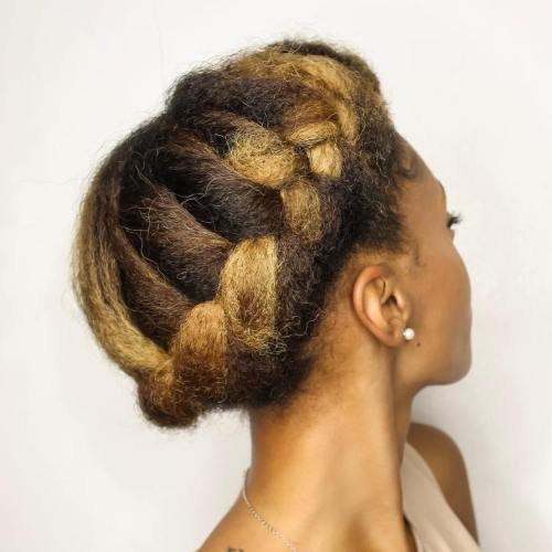 Crown Braid For Natural Hair