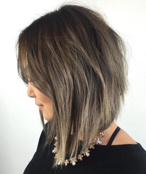 Angled Layered Long Bob
