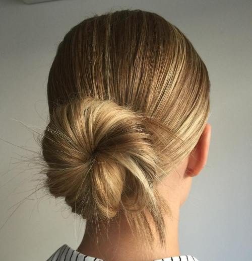 Low Sock Bun Updo