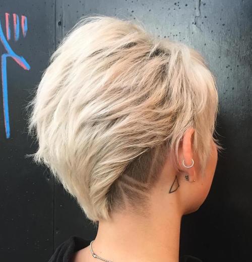 Blonde Layered Undercut Pixie