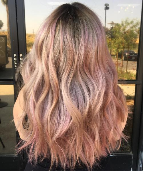20 rose gold hair color ideas tips how to dye. Black Bedroom Furniture Sets. Home Design Ideas