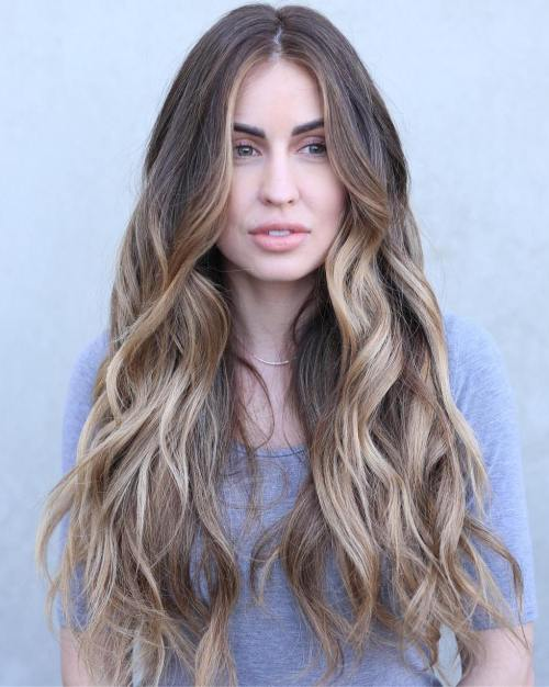 haircuts for long thick coarse hair 20 turning haircuts and hairstyles for thick hair 4388 | 1 long wavy bronde balayage hair