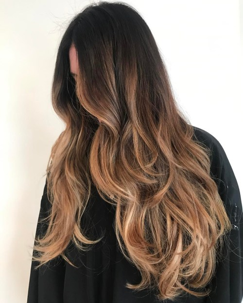 Long Caramel Balayage Hair