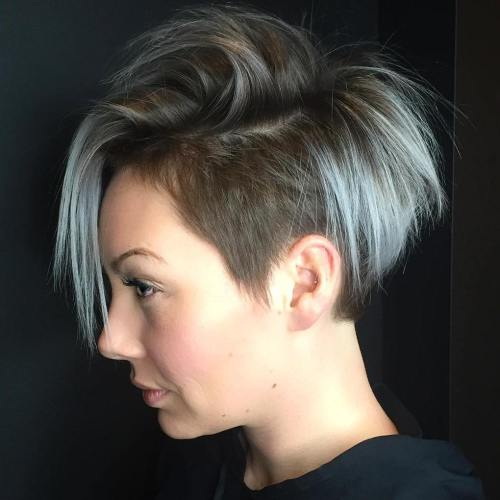 Choppy Pixie Bob With Temple Undercut