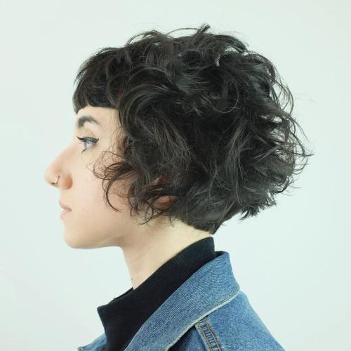 Short Bob With Bangs For Curly Hair
