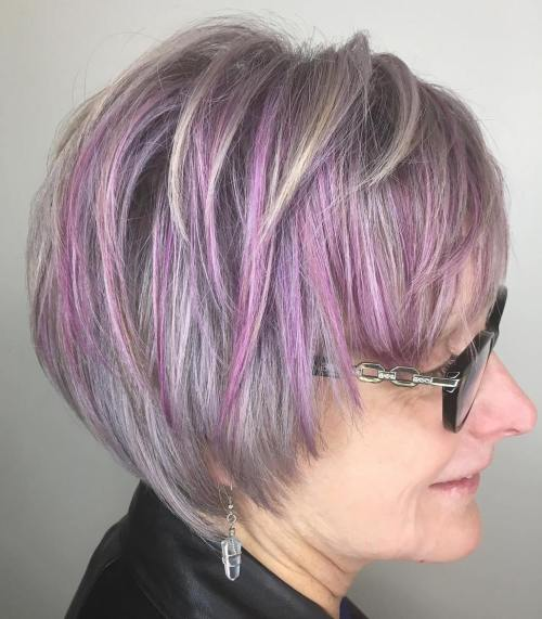 Lilac Pixie With Purple Highlights