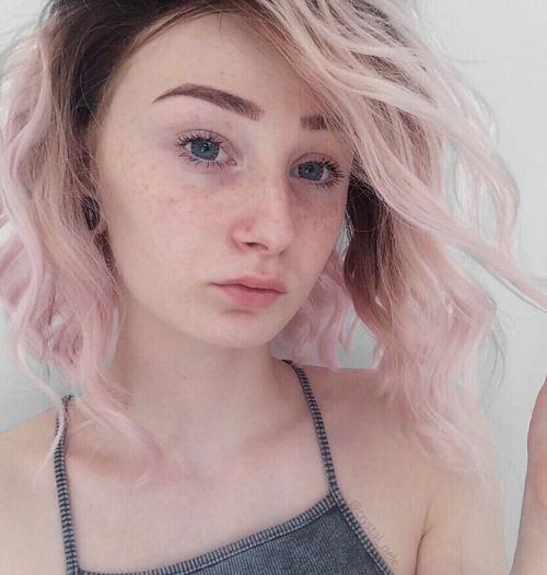 Angled Pastel Pink Bob