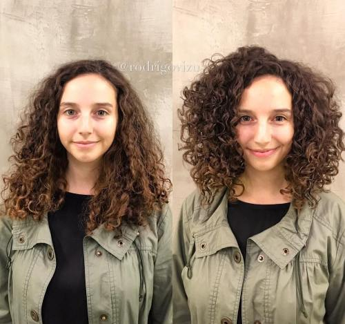 Meium Layered Curls