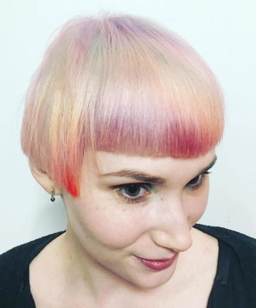 Extra Short Marbled Hairstyle