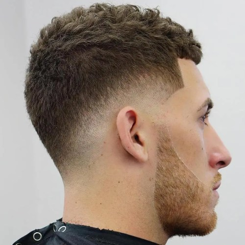 Low Drop Fade For Curly Hair