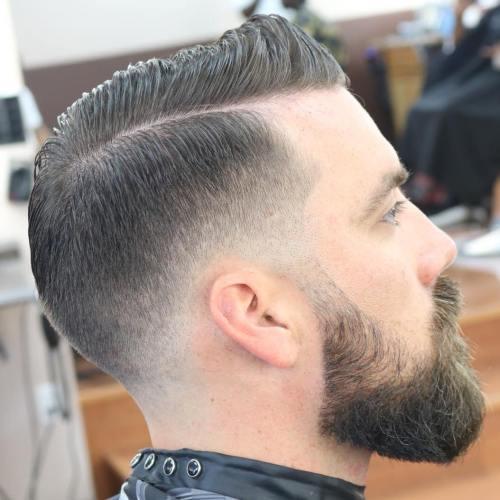 Combover mit verblassen für dünnes Haar