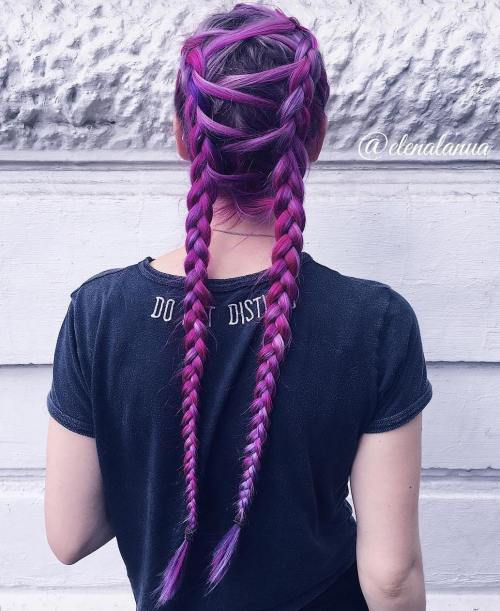 Purple Corset Braids