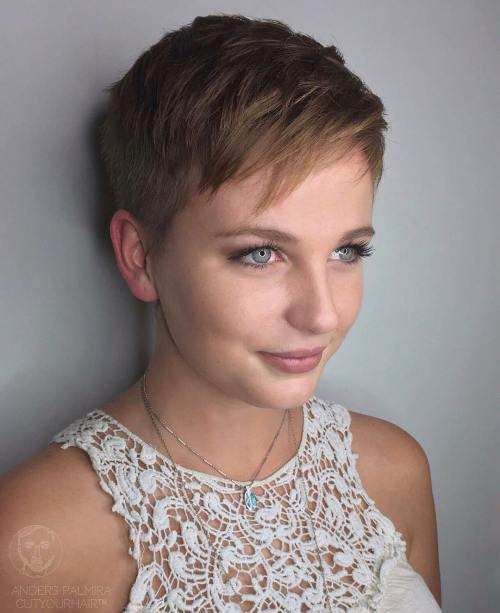 Women's Short Undercut Haircut