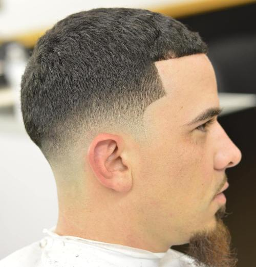 Caesar Cut With Low Fade