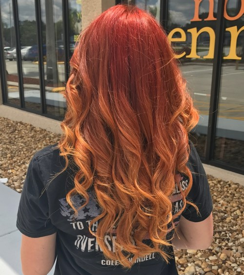 Burnt Orange Balayage Ombre