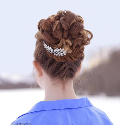 Bridal Voluminous Braided Bun