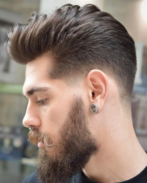 Tapered Pompadour