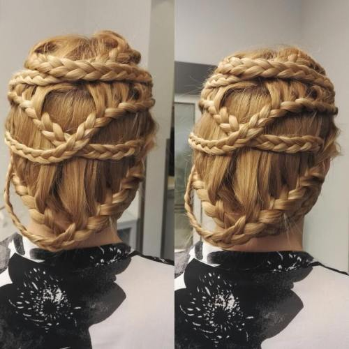 Criss-Cross Braided Updo