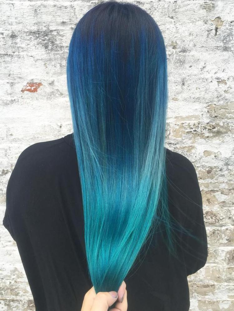 Long Ocean Colored Ombre