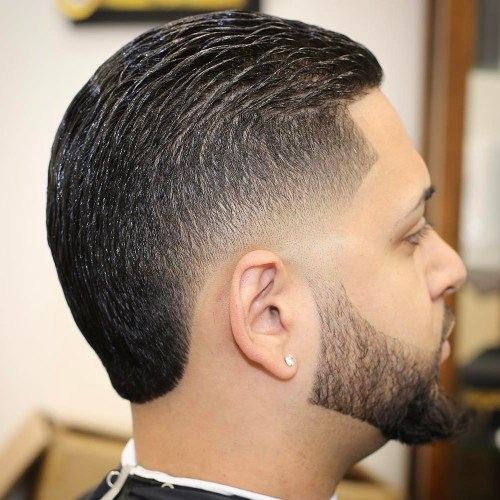 Short Haircut With Low Fade