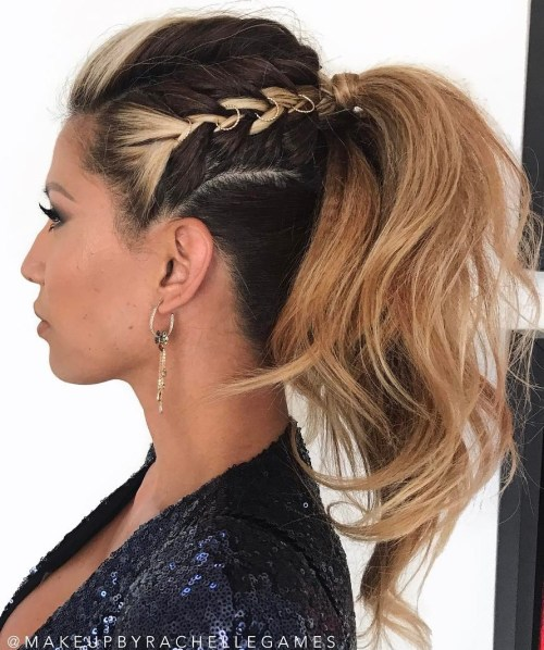 Braided Ponytail With Undercut