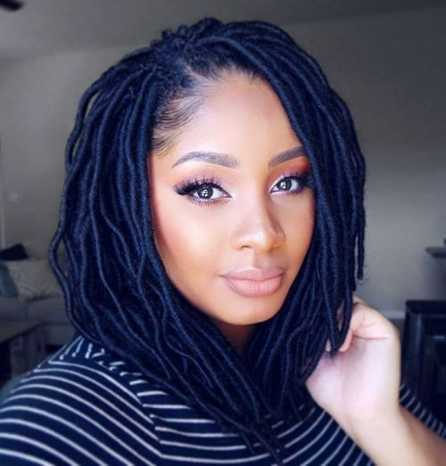 Small Lob Faux Locs