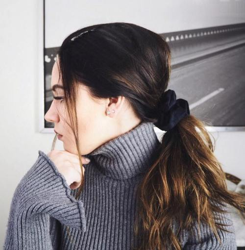 Low Brown Ponytail