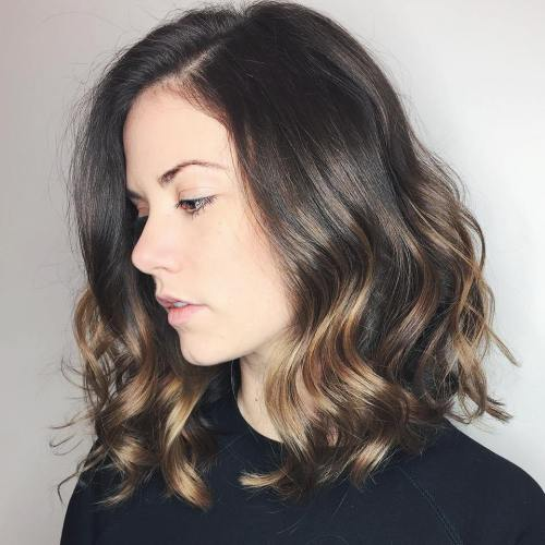 Subtle Caramel Balayage For Brown Hair