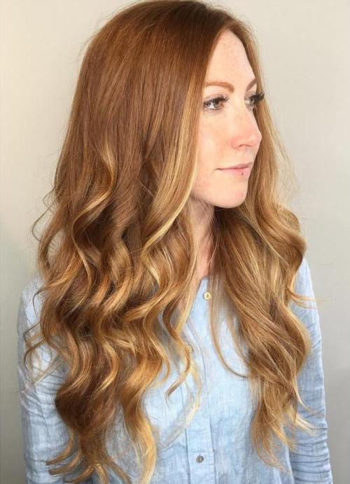 Subtle Balayage For Auburn Hair