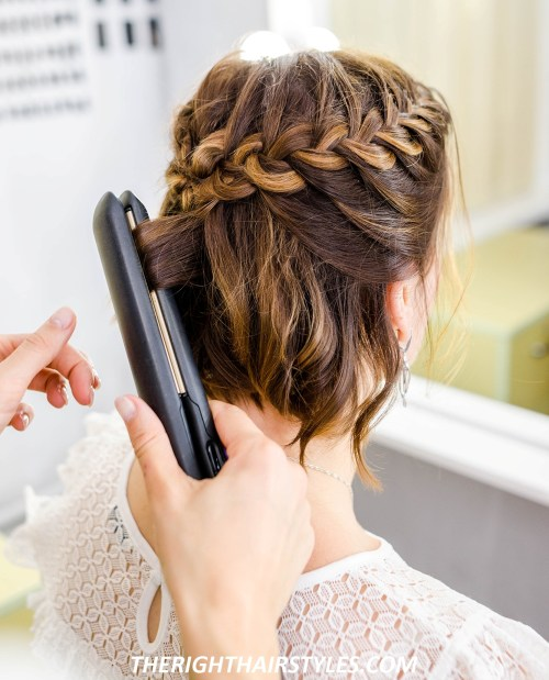 How to Do a Crown Braid: Step 5