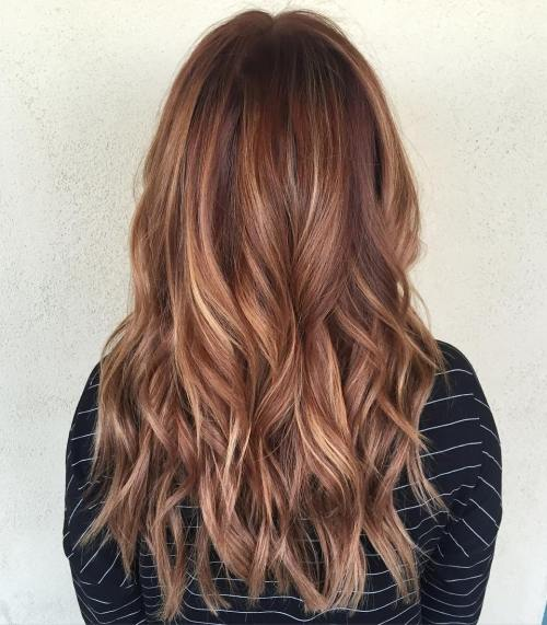 Red Waves And Multi Colored Highlights