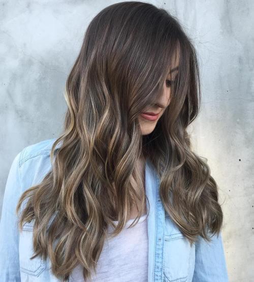 Ash Blonde Balayage For Long Hair