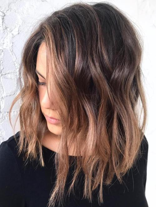 Rose Gold Balayage For Brunettes