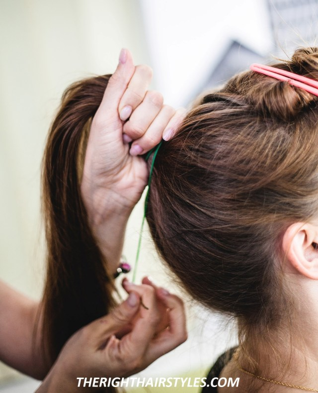 how to make a high ponytail with bouffant in easy 6 steps