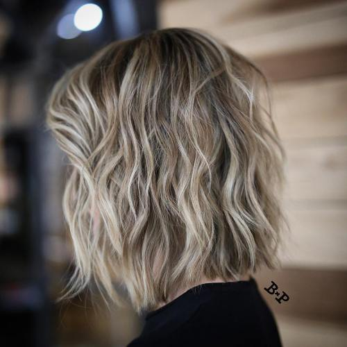Bob With Layers And Highlights