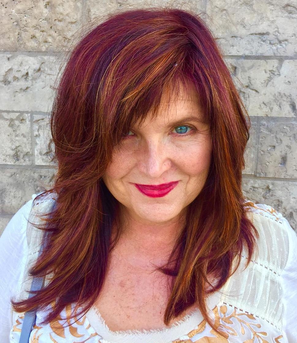 20 Flattering Medium,Length Haircuts for Women Over 50