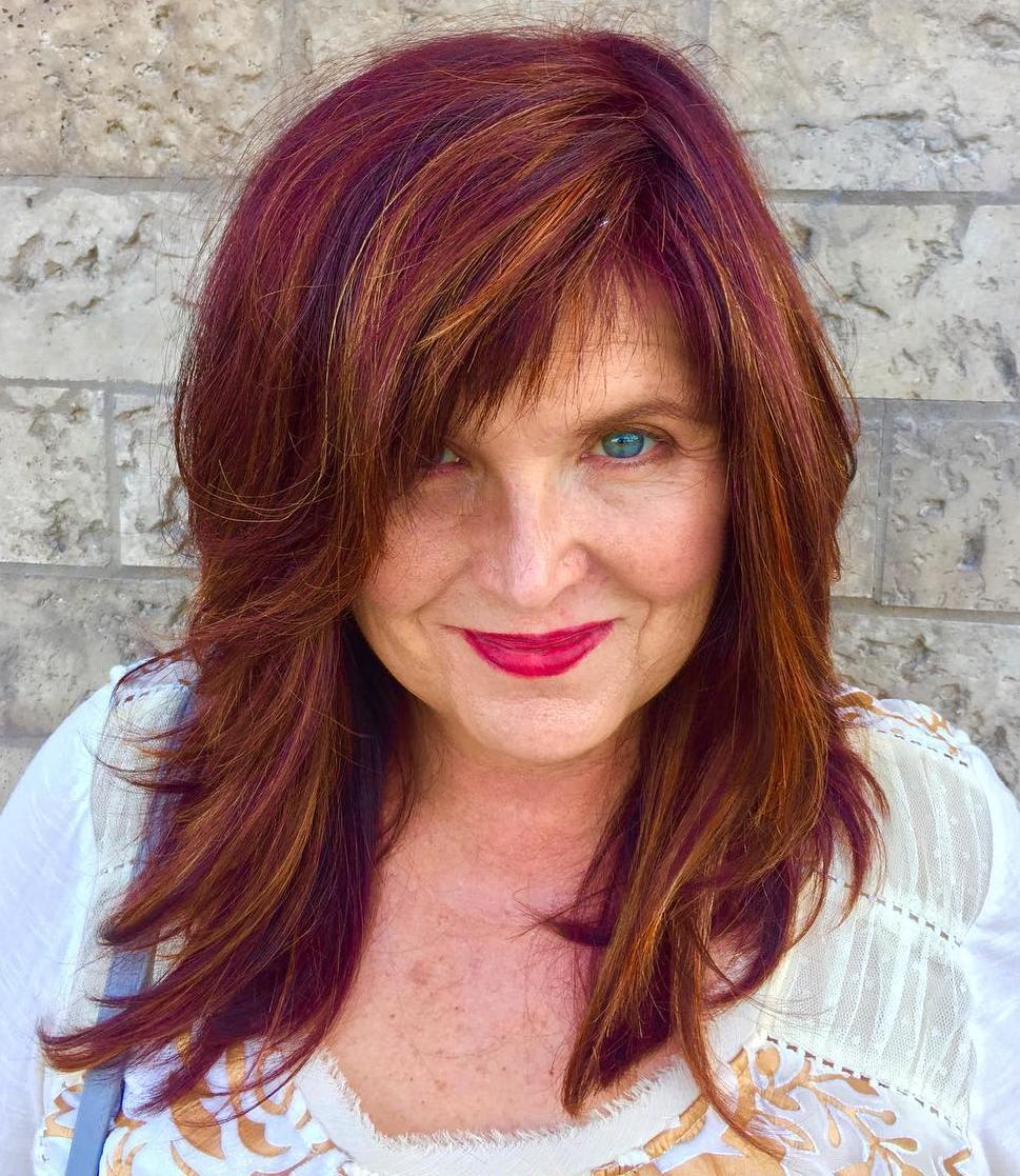 20 Flattering Medium,Length Haircuts for Women Over 50