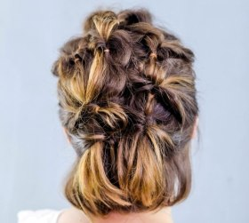 Twisted Hairstyle For Fine Hair