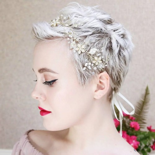Boyish Pixie And Flower Headband