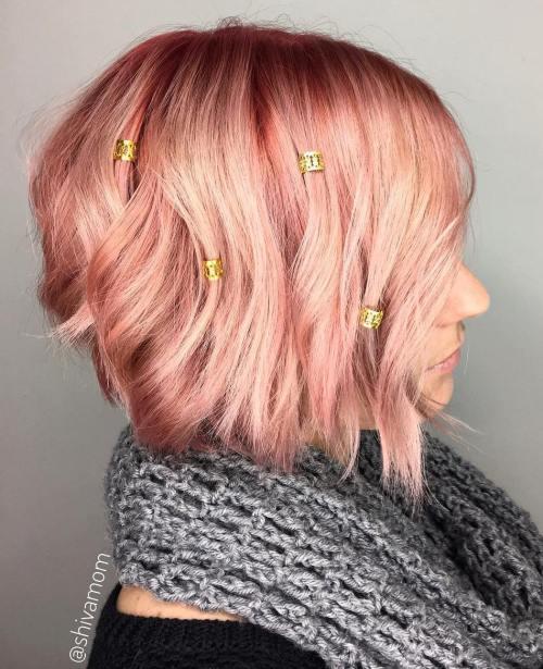 Pechy Hair With Golden Cuff Beads