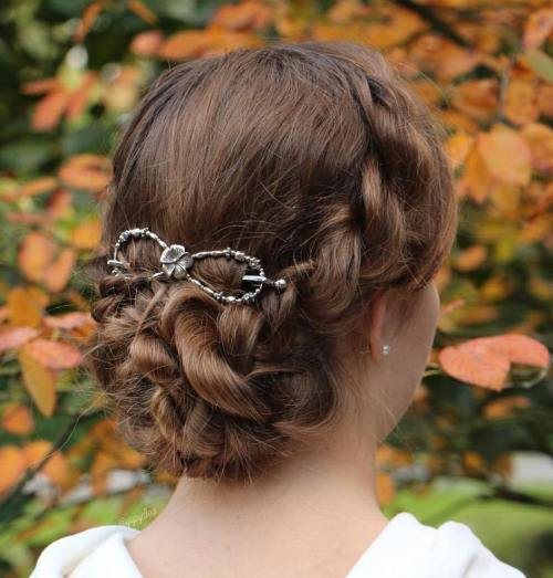 Twisted Updo With Hair Clip
