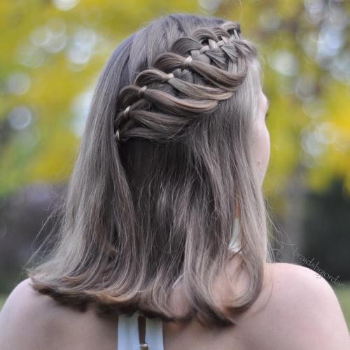 Medium Hair With Strand Braid