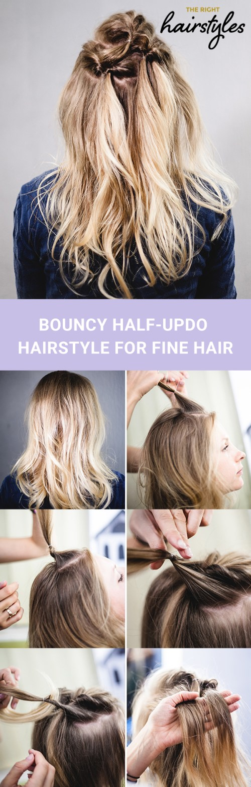 How To Create An Easy Half Updo Hairstyle For Fine Hair