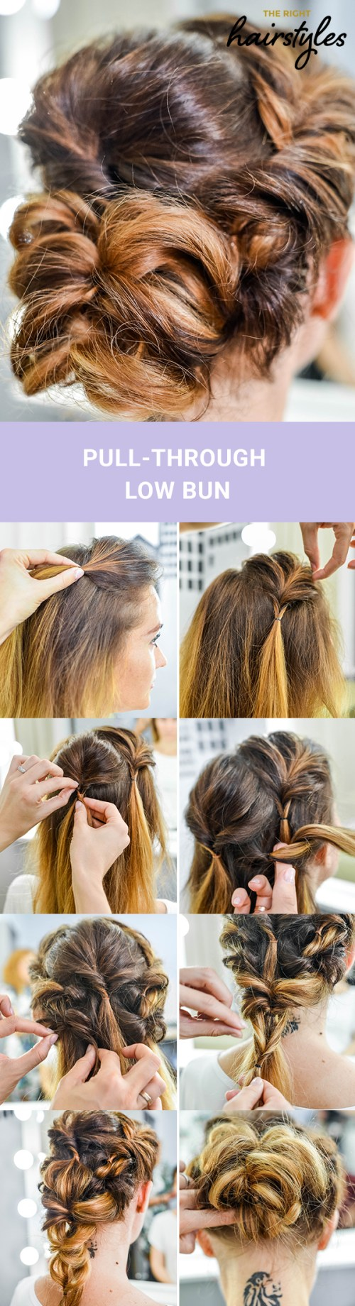 Pull-Through Low Bun