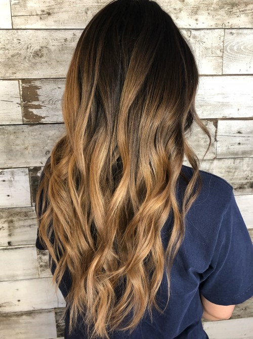 Honey Gold Brunette V-Cut