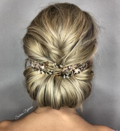 Fishtail Braid Grecian Bun
